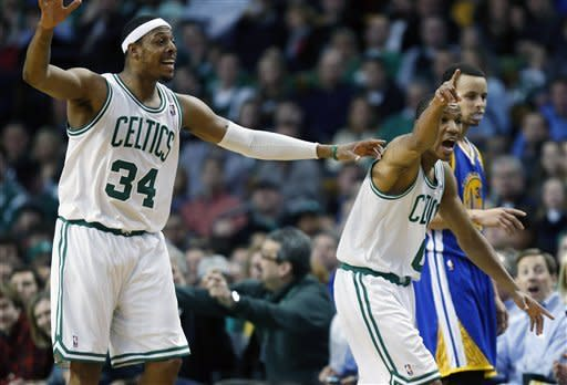 Pierce scores 26, Celtics beat Warriors 94-86