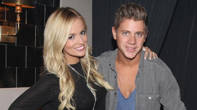Emily Maynard and Jef Holm celebrate his 28th birthday at Abe & Arthur's in New York City on July 24, 2012  -- Getty Premium