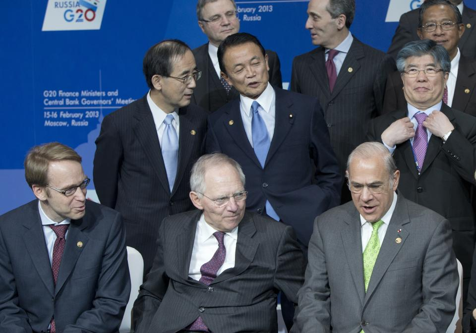 G20 finance chiefs in exchange rate pledge