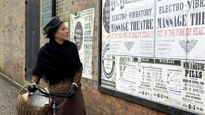 """In this film image released by Sony Pictures Classics, Maggie Gyllenhaal portrays Charlotte Dalrymple in a scene from """"Hysteria."""" (AP Photo/Sony Pictures Classics, Liam Daniel)"""