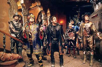William H. Macy , Hank Azaria , Kel Mitchell , Ben Stiller , Janeane Garofalo , Wes Studi , and Paul Reubens in Universal's Mystery Men