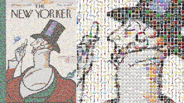 The New Yorker's 'Eustace Tilley' Made With iPhone Emoji Icons