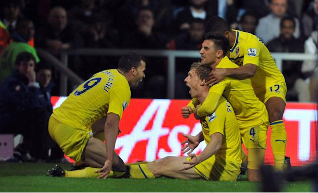 Pavel Pogrebnyak, centre, celebrates scoring Reading's winner