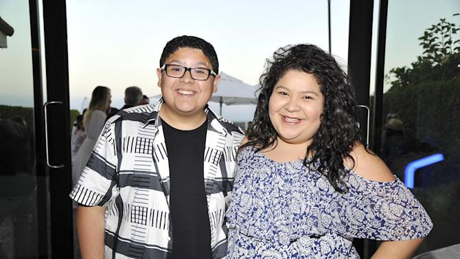 Rico Rodriguez and Raini Rodriguez seen at Peyton Lists Hosts a Private Party at the Infinity Audio Beach House on Wednesday, July 29, 2015, in Malibu, Calif. (Photo by Eric Charbonneau/Invision for Talent Resources/AP Images)