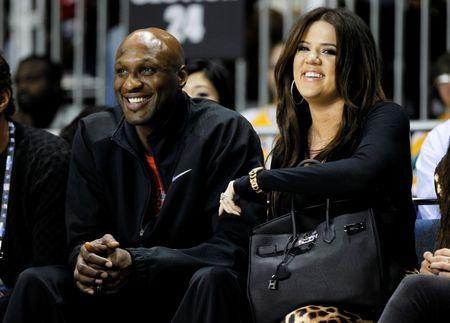 File photo Los Angeles Lakers' Lamar Odom and his wife television personality Khloe Kardashian attending the 2011 BBVA All-Star Celebrity basketball game as a part of the NBA All-Star basketball weekend in Los Angeles