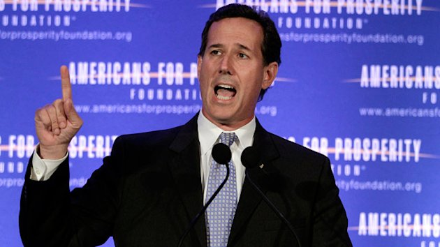 Rick Santorum Calls Unions 'Bullies' (ABC News)