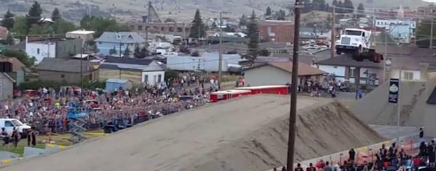 Watch a semi-truck jump to a new world record