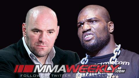 Rampage is Done with the UFC; Dana White Says the Feeling is Mutual