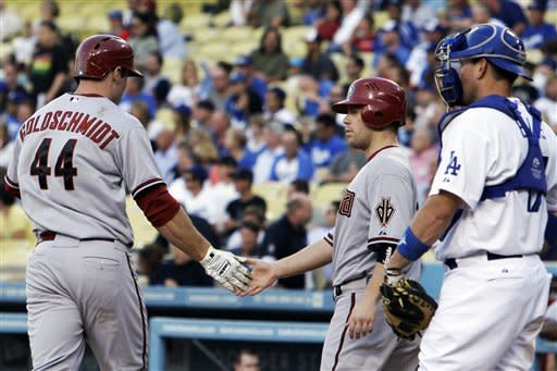 Johnson slams Dodgers' Harang in D-backs debut