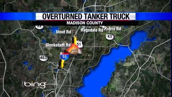 Tanker explodes along Mississippi Interstate
