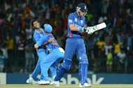 India&#39;s Ashok Dinda (L) celebrates after he dismissed England&#39;s Stuart Broad (R) during their World Twenty20 match in Colombo on September 23.&quot;Any international defeat is really frustrating, especially when you put in a performance like that,&quot; Broad said