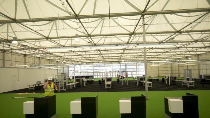Now you see it: Temporary terminal for Olympics