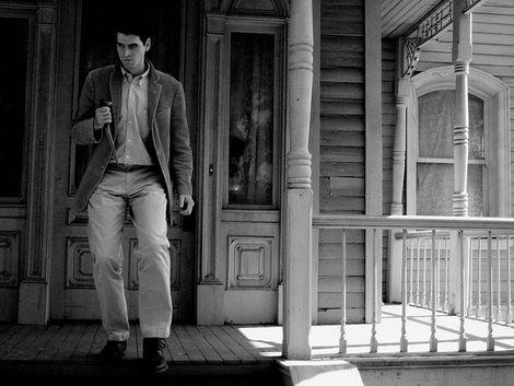 Norman Bates in front of the Bates Mansion as seen during the Psycho section of the Universal Studios Studio Tour in Hollywood.