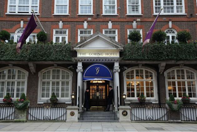 Exterior view of The Goring Hotel in London, England.