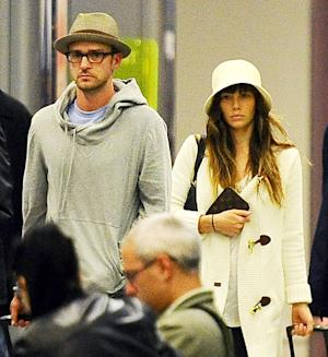 FIRST PICTURE: Newlyweds Justin Timberlake, Jessica Biel Step Out in Italy