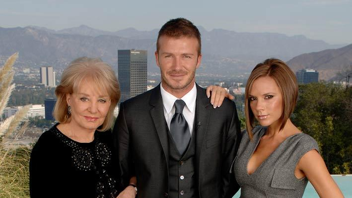 David and Victoria Beckham with Barbara Walters on Barbara Walters Presents:  The 10 Most Fascinating People of 2007.