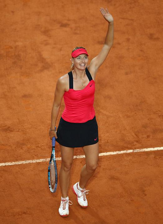 Maria Sharapova Of Russia Waves Getty Images