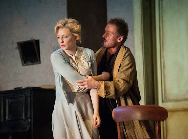 "This undated publicity photo released by Lincoln Center Festival 2012 shows Cate Blanchett, left, and Richard Roxburgh in a scene from the Sydney Theatre Company's production of ""Uncle Vanya,"" currently performing at New York City Center in New York. (AP Photo/Lincoln Center Festival, Stephanie Berger)"