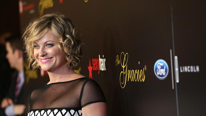 Amy Poehler arrives at Sexy Hair Celebrates The Gracies Presented By The Alliance For Women In Media Foundation, on Tuesday, May, 21, 2013 in Beverly Hills, Calif. (Photo by Alexandra Wyman/Invision for Sexy Hair/AP Images)