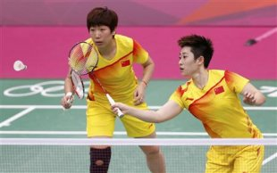China's Wang Xiaoli and Yu Yang (Reuters)