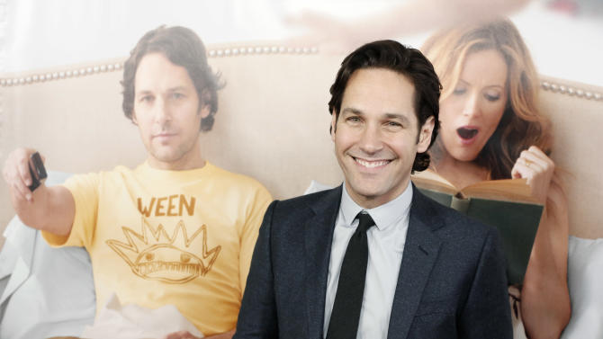 "Paul Rudd attends the premiere of ""This Is 40"" at Grauman's Chinese Theatre on Wednesday, Dec. 12, 2012, in Los Angeles. (Photo by Todd Williamson/Invision/AP)"
