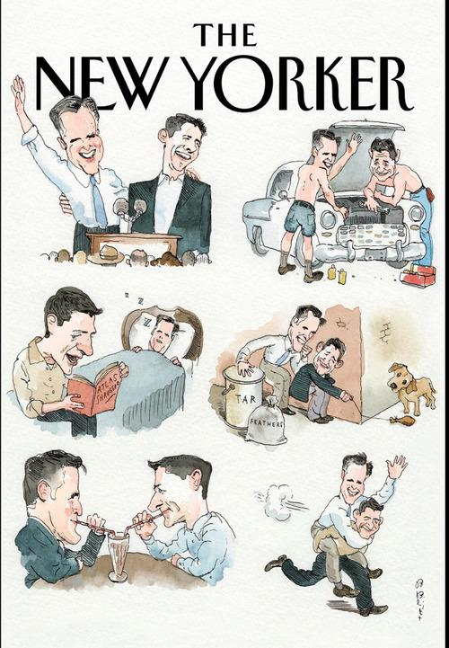 The New Yorker Gets Cutesy with Romney-Ryan Bromance
