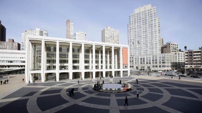 FILE - In this March 8, 2011 file photo Avery Fisher Hall, in New York's Lincoln Center, is shown. Lincoln Center for the Performing Arts has settled a federal lawsuit on Thursday, June 28, 2012 that had accused the facility of failing to provide adequate access for the disabled at Avery Fisher Hall. (AP Photo/Richard Drew, File)