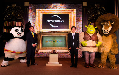 DreamWorks Animation's beloved characters Po from Kung Fu Panda; Shrek; and Alex the Lion from Madagascar, join executives Mr. Clarence Chung Chairm...