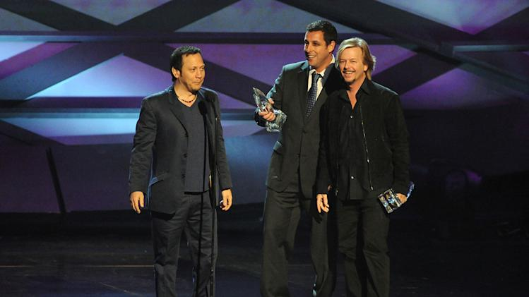 2011 People's Choice Awards Rob Schneider Adam Sandler David Spade