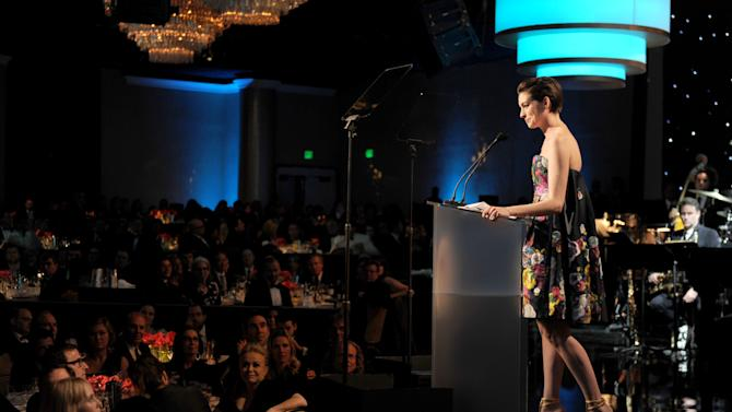 Anne Hathaway onstage at the 24th Annual Producers Guild (PGA) Awards at the Beverly Hilton Hotel on Saturday Jan. 26, 2013, in Beverly Hills, Calif. (Photo by Jordan Strauss/Invision for Producers Guild/AP Images)