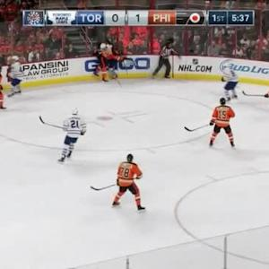 Luke Schenn Hit on Jake Gardiner (14:26/1st)
