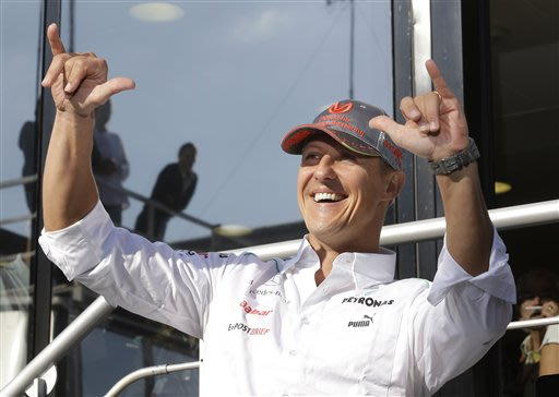 Car F1 Schumacher Retires