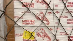Eighty tonnes of lobster were shipped from the Halifax airport to Europe on Wednesday.