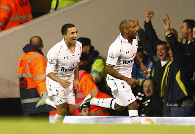 Jermain Defoe, right, scored a brace as Tottenham defeated West Ham