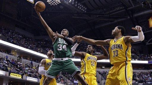Pierce leads Celtics past Pacers, 86-72