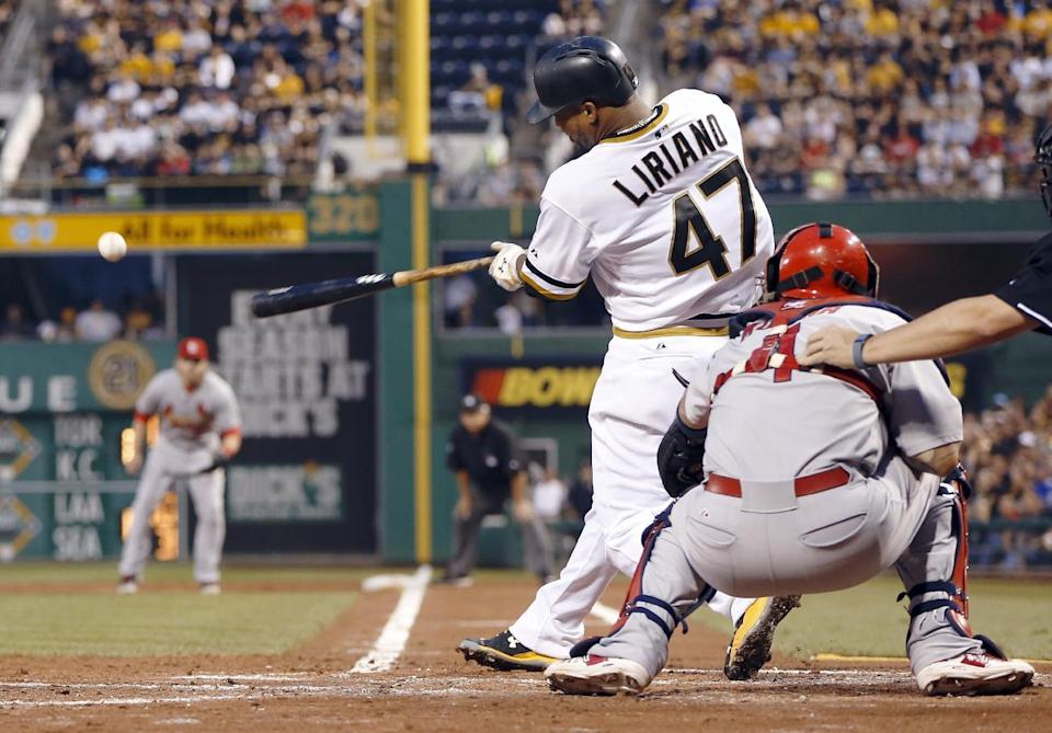 Pirates rally past Cardinals 6-5 in 10 innings