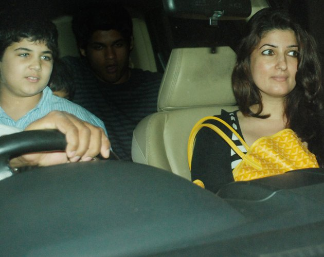 Twinkle sitting with son Aarav  - (2) -  Twinkle khanna Latest pics