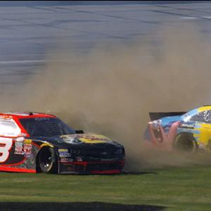 Ty Dillon, Bubba collected in late race crash