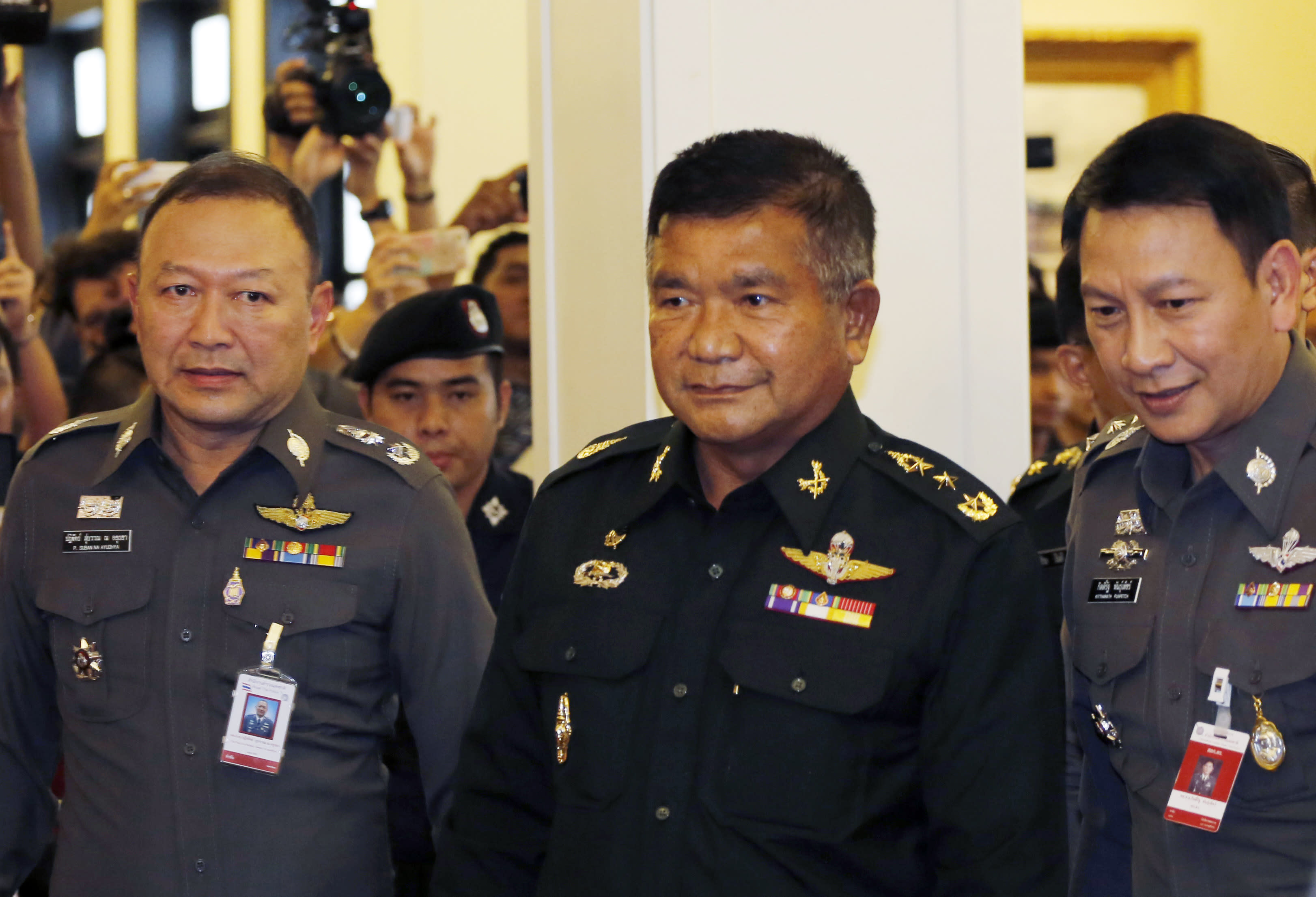 Thai army officer surrenders in human trafficking probe