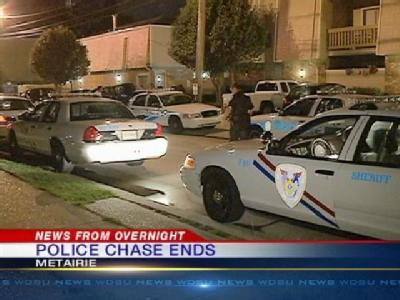 Police Search For Suspect In Overnight Police Chase