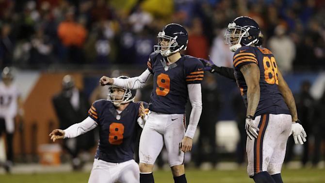 Bears beat Ravens 23-20 in OT after long delay