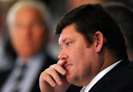 One of Australia&#39;s richest men, casino and gaming tycoon James Packer. Rupert Murdoch&#39;s Australian arm News Limited has made an Aus$1.97 billion (US$2.0 billion) takeover bid for Packer&#39;s majority-owned media investment firm Consolidated Media Holdings