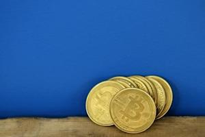 Bitcoin (virtual currency) coins are seen in an illustration picture taken at La Maison du Bitcoin in Paris