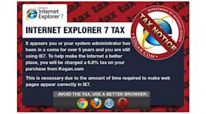 Online retailer charges customers extra for using Microsoft's Internet Explorer 7 browser