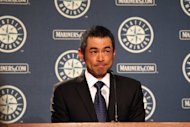 Ichiro Suzuki of the New York Yankees addresses the media after being traded to the Yankees from the Seattle Mariners, at Safeco Field, on July 23, in Seattle, Washington. Suzuki, who spent his entire 12-year career with the Mariners, was traded to the Yankees for a pair of minor-league pitchers