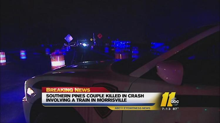 2 killed when car, freight train collide in Morrisville