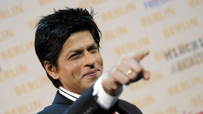 "Bollywood actor Shah Rukh Khan poses during a photo call in Berlin, Germany, on  Friday, Oct. 22, 2010. Shah Rukh Khan is working on his new action movie ""Don-2"" in Berlin, where some of the scenes are shot.  (AP Photo/Kai-Uwe Knoth)"
