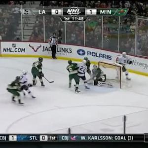 Devan Dubnyk Save on Dustin Brown (08:11/1st)