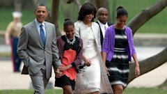 ap barack sasha michelle malia obama easter sunday jt 130331 wblog Obama Family Attends Easter Service at St. Johns