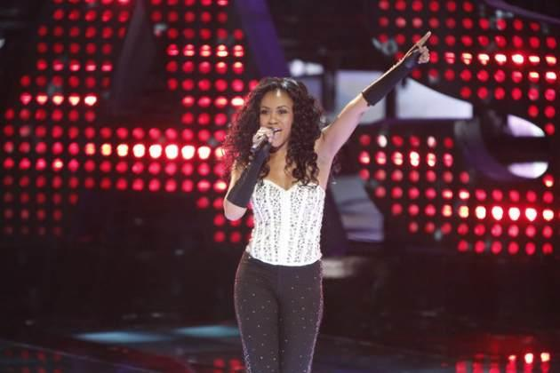 Sasha Allen performs a Donna Summer song on 'The Voice,' June 10, 2013 -- NBC
